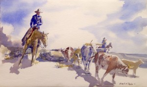 Watercolor painted by Vernon L. Drake, Lindsay's grandfather.