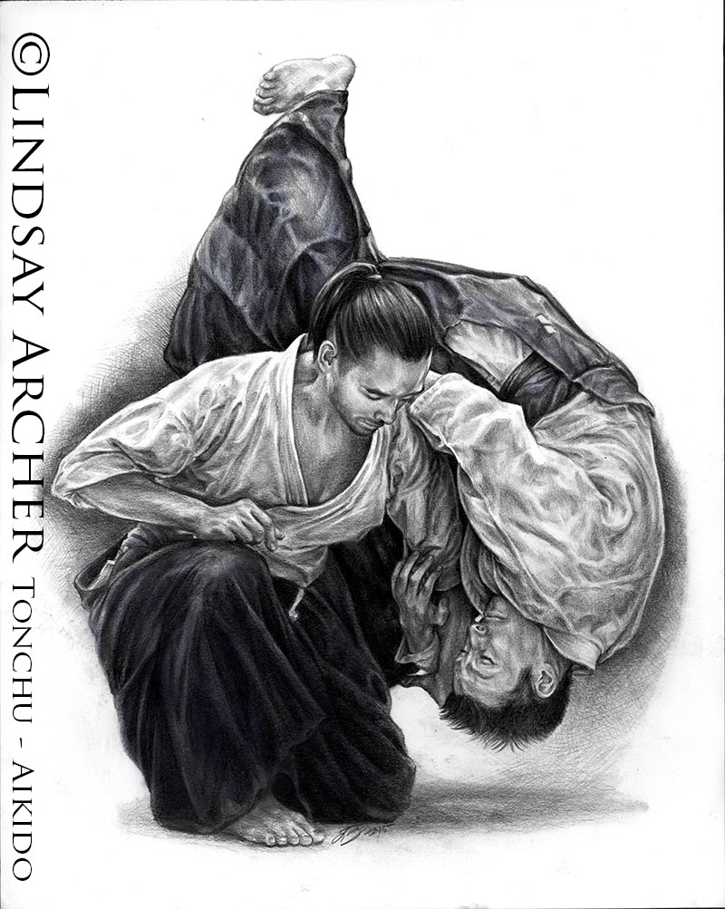 aikido martial arts artwork artist lindsay archer. Black Bedroom Furniture Sets. Home Design Ideas